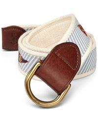 Polo Ralph Lauren Flag Seersucker Belt - Lyst