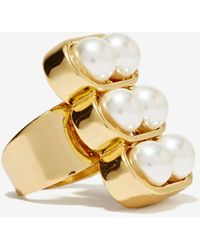 Nasty Gal Nitty Griddy Pearl Ring - Lyst