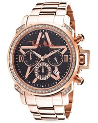 Thierry Mugler Women'S Rose-Tone Bracelet Black Dial - Lyst