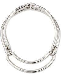 Balenciaga Maillon Metal Clip Necklace - Lyst