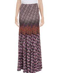 Missoni Lurex Wave Long Skirt - Lyst