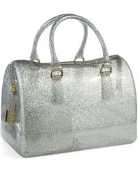Furla Candy Glitter Pvc Medium Satchel - Lyst