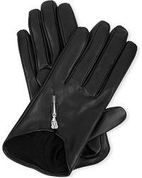 Causse Gantier Short Zipped Leather Gloves - For Women - Lyst