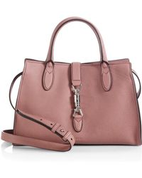 Gucci Jackie Soft Leather Top Handle Bag - Lyst