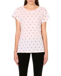 Wildfox Buckingham Cottonjersey Tshirt Rose Bud - Lyst