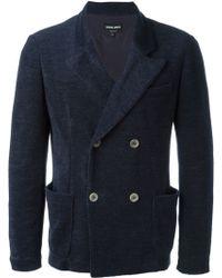 Giorgio Armani | Double Breasted Blazer | Lyst