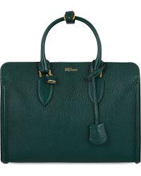 Alexander McQueen Mcq Heroine Open Leather Tote Green - Lyst