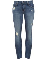 Mother The Looker Skinny Fray Jeans - Lyst