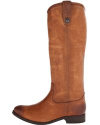 Frye Brown Melissa Button - Lyst