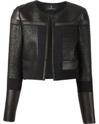 J. Mendel Leather Panel Jacket - Lyst