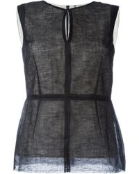 Largest Supplier For Sale Cheap Sale Choice contrast-trim sleeveless top - Black Masnada xAkvsEAUh9