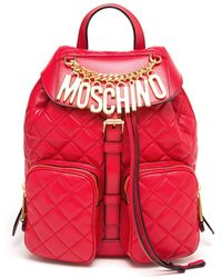 Moschino Quilted Backpack - Lyst