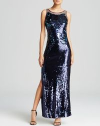 JS Collections Gown - Sequin Illusion Back Side Slit - Lyst
