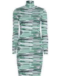 Stella McCartney Stretch Turtleneck Dress - Lyst