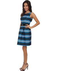 Adrianna Papell Pleated Sleeveless Dress - Lyst