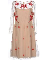 Alice By Temperley Short Dress beige - Lyst