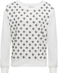 Alice + Olivia Drew Embroidered Sweater - Lyst