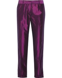 Elizabeth And James Anselm Taffeta Skinny Pants - Lyst