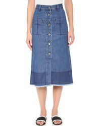 Edition10 - Denim Skirt - Lyst