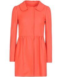 RED Valentino Light Wool Coat - Lyst