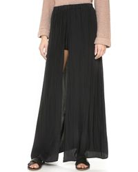Ella Moss - Extreme Lengths Maxi Skirt With Shorts - Lyst