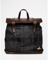 Vivienne Westwood | Africa Scribble Plaid Backpack | Lyst