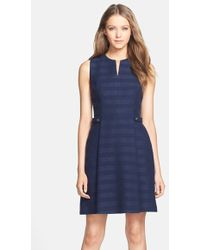 Cynthia Steffe 'Addison' Cotton Blend Fit & Flare Dress blue - Lyst