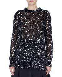 Fendi Cosmic Drop Long Knit Sweater black - Lyst