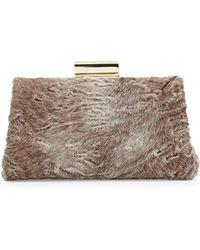 Jason Wu Christy Astrakhan Fur Pochette Bag brown - Lyst