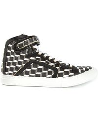 Pierre Hardy Graphic Print Hitop Sneakers - Lyst