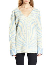 Carven Zebraprint Dolmansleeved Sweater - Lyst