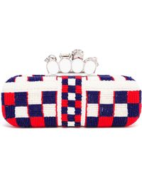 Alexander McQueen Knuckle Duster Beaded Box Clutch - Lyst