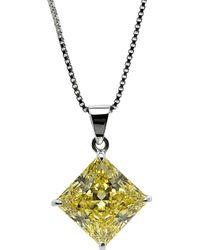 Carat* - Princess 1ct Canary Yellow Pendant - Lyst