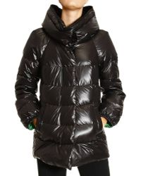 Ermanno Scervino Shine Medium Down Jacket with Contrast Inside - Lyst
