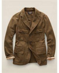 Ralph Lauren Cotton Edward Sport Coat - Lyst