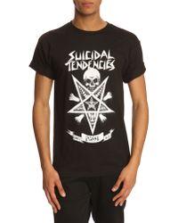 Obey Suicidal Black T-Shirt - Lyst
