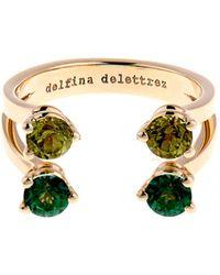 Delfina Delettrez - Peridot Topaz  Yellowgold Ring - Lyst