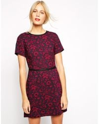 Oasis Baroque Floral Dress - Lyst