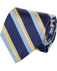 Barneys New York Diagonal-stripe Jacquard Neck Tie - Lyst