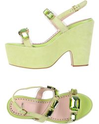 Moschino Cheap & Chic Sandals green - Lyst