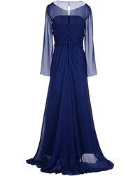 Alberta Ferretti Blue Long Dress - Lyst