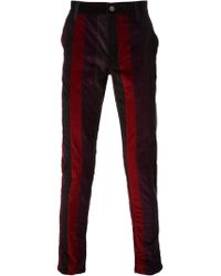 Dolce & Gabbana Striped Corduroy Trousers - Lyst