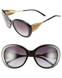 Burberry 'Trench Knot' 57Mm Oversized Sunglasses black - Lyst