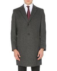 Hugo Boss Stratus Wool-blend Coat - Lyst