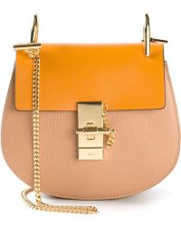 Chloé Drew Calf-Leather Shoulder Bag - Lyst