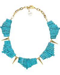 Gemma Redux - Goldplated Resin Necklace - Lyst