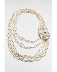 Alexis Bittar Jagged Diamond Multi Strand Link Necklace - Lyst