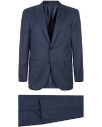 Corneliani Windowpane Wool Suit - Lyst