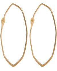 Melissa Joy Manning - Large Gold Octagonal Hoop Earrings - Lyst