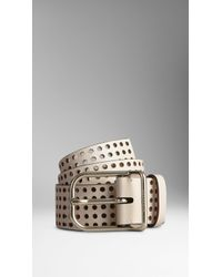 Burberry Punch Hole Detail Belt - Lyst